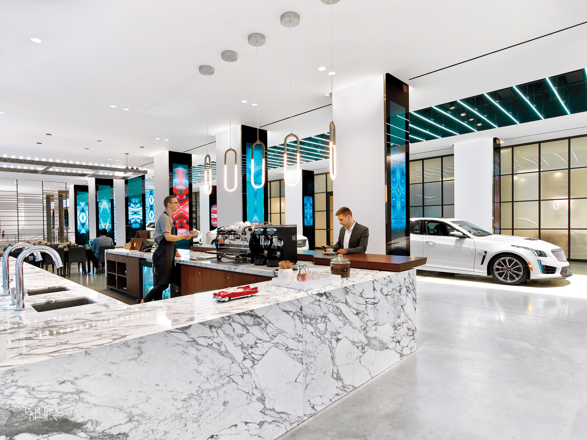 Cadillac House, designed by Gensler, aims to engage with culture in a substantive way while still prominently showcasing Cadillac products.